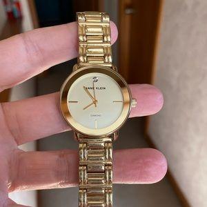 Anne Klein Diamond watch gold